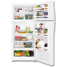 Picture of WHIRLPOOL® 16.0 CU FT TOP MOUNT REFRIGERATOR - WHITE