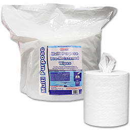 Picture of PREMOISTENED FACILITY WIPES- 2 ROLLS OF 800 SHEETS