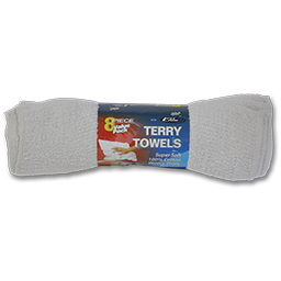 Picture of WHITE TERRY CLOTH TOWELS - 8/PK