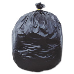 Picture of 60 GALLON STRONGEST HEAVY TRASH BAGS - 38X58 BLACK 1.75 MIL 100/BX