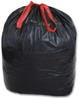 Picture of 33 GALLON TRASH BAGS WITH DRAW-TIE 33X40 BLACK 150/CS