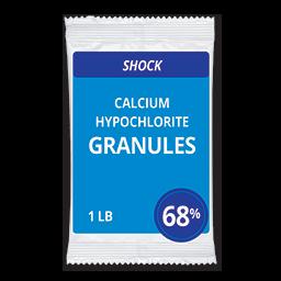 CALCIUM HYPOCHLORITE POOL CHLORINE - 68% 1 LB