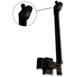 "Picture of 9"" BLACK MAGNETIC GATE LATCH W/KEYLOCK"
