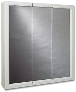 "Picture of 23-3/4"" X 25-5/8"" TRI-VIEW MEDICINE CABINET - WHITE"