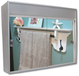 Picture of SLIDING DOOR MEDICINE CABINET WITH LIGHT