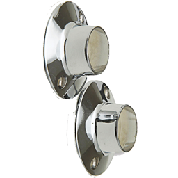 Picture of CHROME SHOWER ROD FLANGES ZINC WITH EXPOSED SCREW 2/PK