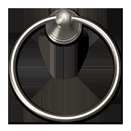 TOWEL RING, ROUND BASE - SATIN NICKEL