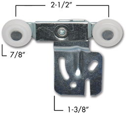 "Picture of 2-WHEEL HANGER 1/4"" OFFSET"