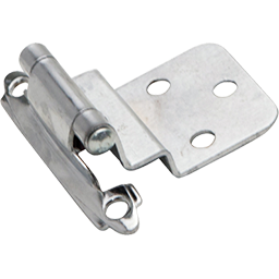 "Picture of 3/8"" INSET SELF CLOSING HINGE PAIR - POLISHED CHROME"