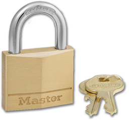 Picture of #140KA BRASS MASTER PADLOCK - KEYED ALIKE