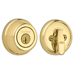 Picture of KWIKSET SINGLE CYLINDER GATELATCH - POLISHED BRASS