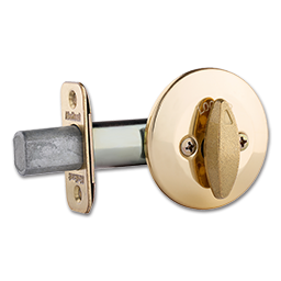 Picture of KWIKSET ONE SIDED DEADBOLT - POLISHED BRASS
