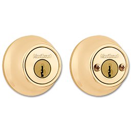 Picture of KWIKSET DOUBLE CYLINDER DEADBOLT - POLISHED BRASS