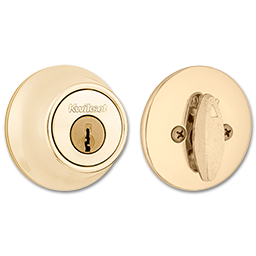 Picture of 660 X 3 KWIKSET SINGLE CYLINDER DEADBOLT - POLISHED BRASS