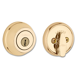 Picture of KWIKSET ULTRAMAX SINGLE CYLINDER DEADBOLT - POLISHED BRASS