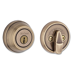 Picture of KWIKSET ULTRAMAX SINGLE CYLINDER DEADBOLT - ANTIQUE BRASS