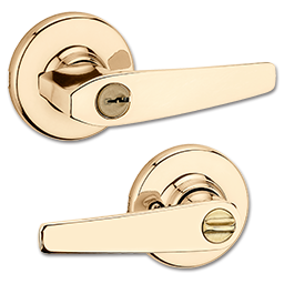 Picture of 405DLX3 KWIKSET DELTA ENTRY LEVER - POLISHED BRASS