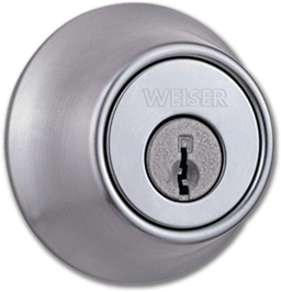 Picture of WEISER SINGLE CYLINDER DEADBOLT - SATIN CHROME