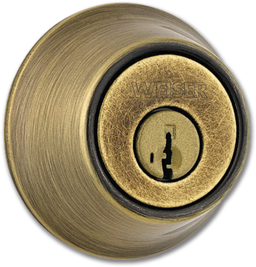 Picture of WEISER SINGLE CYLINDER DEADBOLT - ANTIQUE BRASS