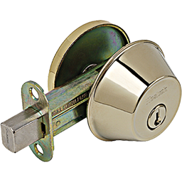 Picture of WESLOCK SINGLE CYLINDER DEADBOLT - POLISHED BRASS