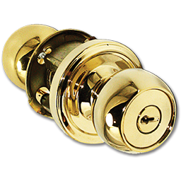 Picture of WESLOCK ENTRY LOCK - POLISHED BRASS