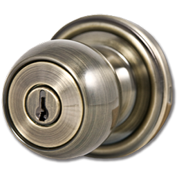 Picture of WESLOCK ENTRY LOCK - ANTIQUE BRASS