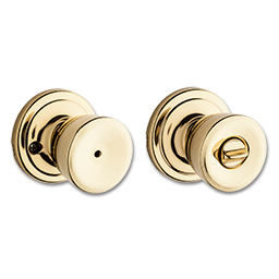 Picture of KWIKSET ABBEY PRIVACY - POLISHED BRASS