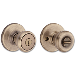 Picture of KWIKSET TYLO ENTRY - ANTIQUE BRASS