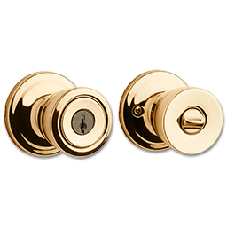 Picture of KWIKSET ABBEY ENTRY - POLISHED BRASS