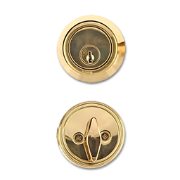 Picture of MAXWELL SINGLE CYLINDER DEADBOLT - POLISHED BRASS