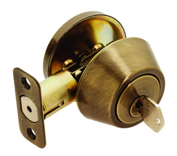 Picture of MAXWELL SINGLE CYLINDER DEADBOLT - ANTIQUE BRASS