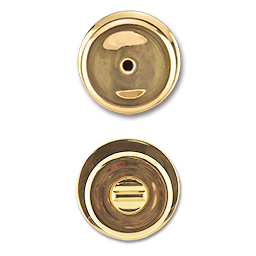 MAXWELL TULIP PRIVACY LOCK - POLISHED BRASS