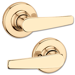 Picture of KWIKSET DELTA LEVER PASSAGE - POLISHED BRASS