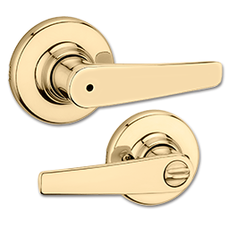 Picture of KWIKSET DELTA LEVER PRIVACY - POLISHED BRASS