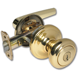 Picture of KWIKSET DELTA LEVER ENTRY - POLISHED BRASS
