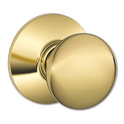 Picture of SCHLAGE PLYMOUTH PASSAGE LOCK - POLISHED BRASS