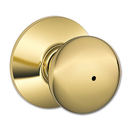 Picture of SCHLAGE PLYMOUTH PRIVACY LOCK - POLISHED BRASS