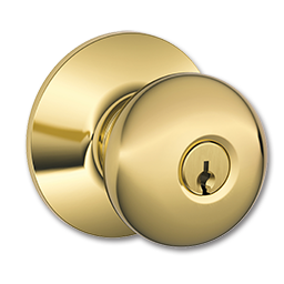 Picture of SCHLAGE PLYMOUTH ENTRY LOCK - POLISHED BRASS