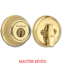 Picture of KWIKSET MASTER KEYED DEADBOLT - POLISHED BRASS