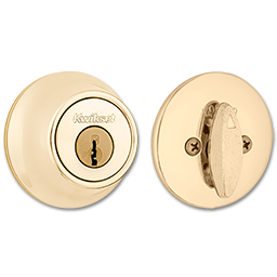 Picture of KWIKSET DEADBOLT NO LATCH - POLISHED BRASS