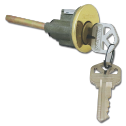 Picture of KWIKSET REPLACEMENT CYLINDER FOR 660 DEADBOLT WITH KEYS- POLISHED BRASS