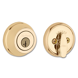 Picture of KWIKSET ULTRA MAX SINGLE CYLINDER SMARTKEY DEADBOLT - POLISHED BRASS