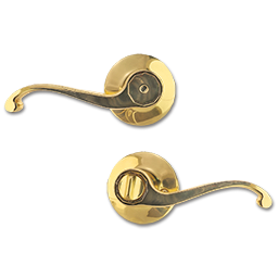 Picture of MAXWELL PRIVACY LEVER LOCK - POLISHED BRASS
