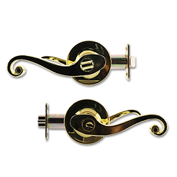 Picture of MAXWELL ENTRY LEVER LOCK - POLISHED BRASS