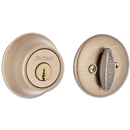 Picture of KWIKSET SMARTKEY SINGLE CYLINDER DEADBOLT - ANTIQUE BRASS