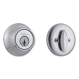 KWIKSET SMARTKEY SINGLE CYLINDER DEADBOLT - SATIN CHROME