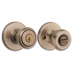 Picture of KWIKSET SMARTKEY TYLO ENTRY LOCK - ANTIQUE BRASS
