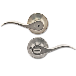 Picture of MAXWELL WAVE HANDLE LEVER PRIVACY LOCK - SATIN NICKEL