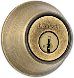 Picture of KWIKSET ONE-SIDED DEADBOLT- ANTIQUE BRASS