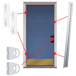 Picture of UNIVERSAL DOOR ARMOR SECURITY AND JAMB REPAIR SET